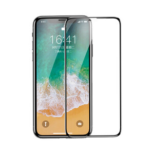 Купить Защитное стекло Baseus Curved Full Screen Tempered Glass Film Black для iPhone X/XS