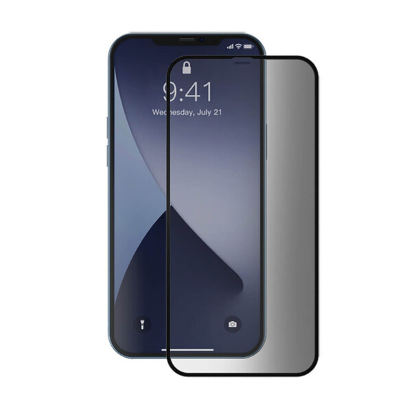 Защитное стекло антишпион Baseus Curved Screen Tempered Glass 0.23mm Black для iPhone 12 Pro Max (2 шт.)