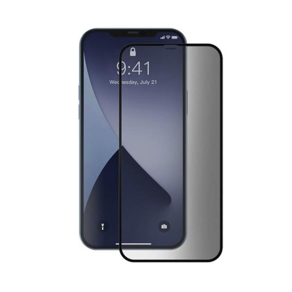 Защитное стекло антишпион Baseus Curved Screen Tempered Glass 0.23mm Black для iPhone 12 mini (2 шт.)