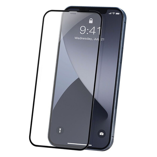 Ультратонкое защитное стекло Baseus Curved-screen Tempered Glass 0.23mm Black для iPhone 12 mini (2 шт.)