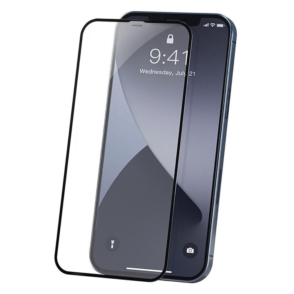 Купить Ультратонкое защитное стекло Baseus Curved-screen Tempered Glass 0.23mm Black для iPhone 12 Pro Max (2 шт.)