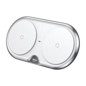 Купить Беспроводное зарядное устройство Baseus Dual White