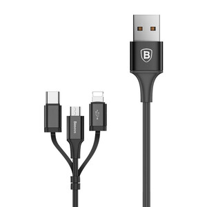 Купить Кабель Baseus Excellent 3 in 1 Cable USB to USB Type-C | Lightning | Micro-USB 1.2m