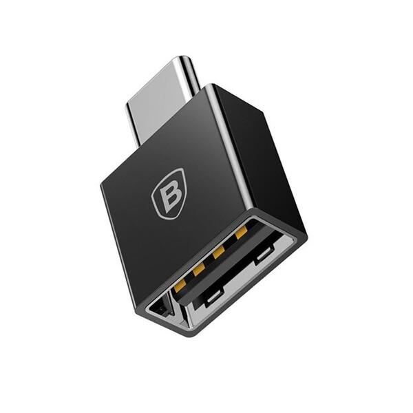 Переходник Baseus Exquisite USB Type-C to USB Black