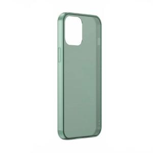 Купить Силиконовый чехол BASEUS Frosted Glass Phone Case Green для iPhone 12 mini