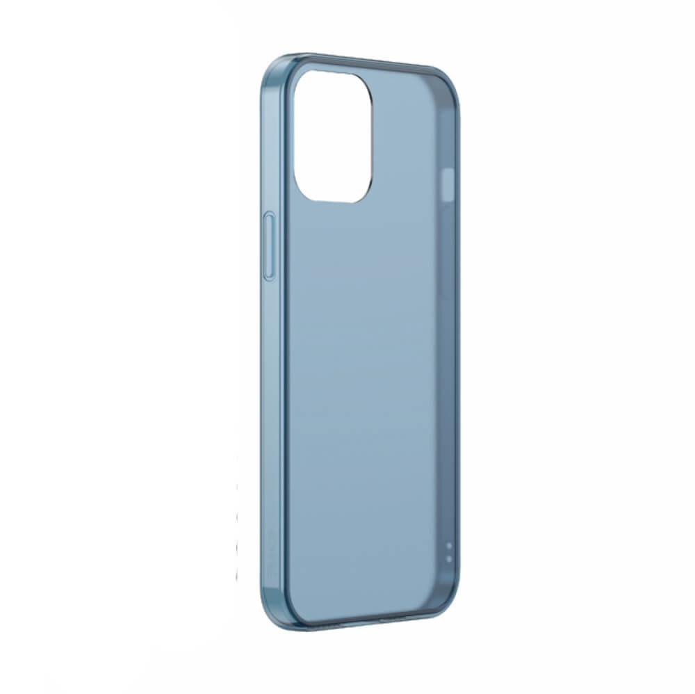 Купить Стеклянный чехол BASEUS Frosted Glass Phone Case Bleu для iPhone 12 | 12 Pro