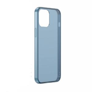 Купить Силиконовый чехол BASEUS Frosted Glass Phone Case Blue для iPhone 12 mini