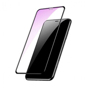 Купить Защитное стекло Baseus Full Anti-Blue Light Tempered Glass 0.3mm Black для iPhone XS Max