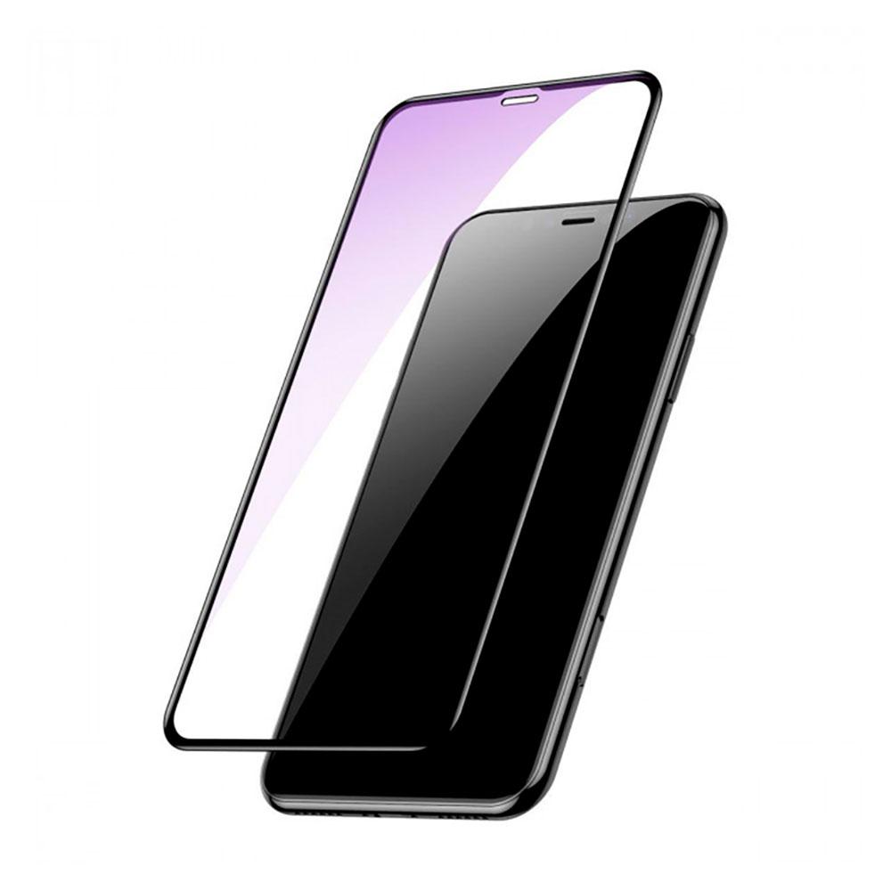 Купить Защитное стекло Baseus Full Coverage Anti-Blue Light Tempered Glass 0.3mm для iPhone 11 | XR