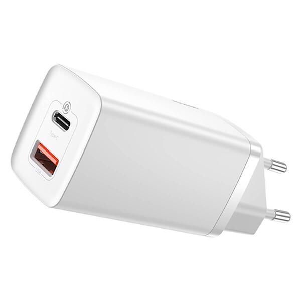 Быстрое сетевое зарядное устройство Baseus GaN2 Lite Quick Charger 65W (EU)