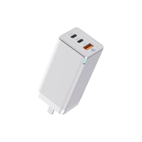 Быстрое сетевое зарядное устройство Baseus GaN2 Pro Quick Charger 2 Type-C+USB-A White 65W (US) + EU адаптер