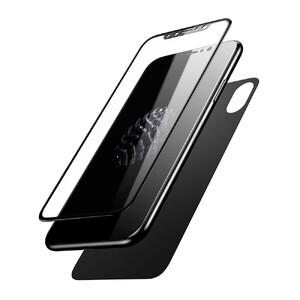 Купить Переднее + заднее защитное стекло Baseus Glass Film Set Black для iPhone X/XS