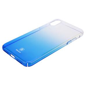 Купить Чехол-накладка Baseus Glaze Case Transparent Blue для iPhone X/XS