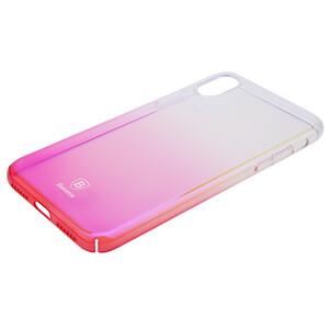Купить Чехол-накладка Baseus Glaze Case Transparent Pink для iPhone X/XS