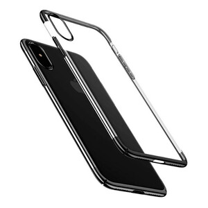 Купить Чехол-накладка Baseus Glitter Case Transparent Black для iPhone X