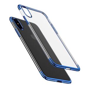Купить Чехол-накладка Baseus Glitter Case Transparent Blue для iPhone X