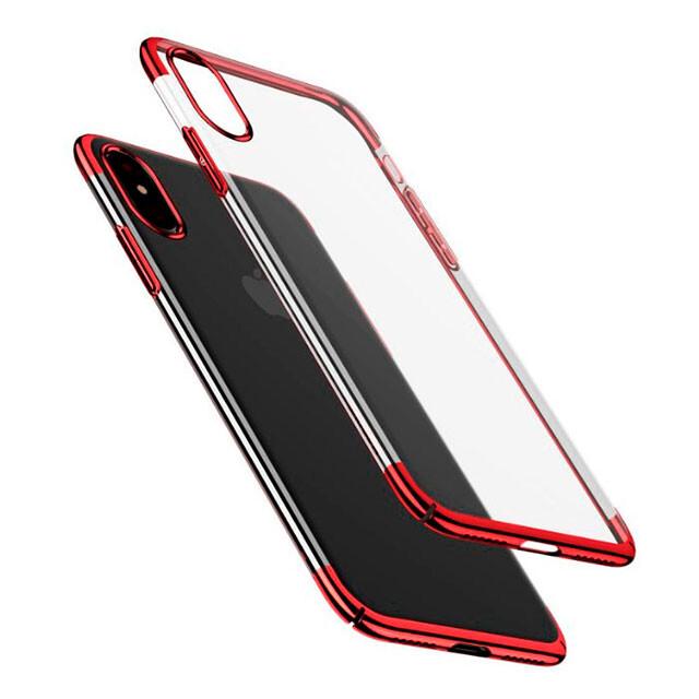 Чехол-накладка Baseus Glitter Case Transparent Red для iPhone X/XS