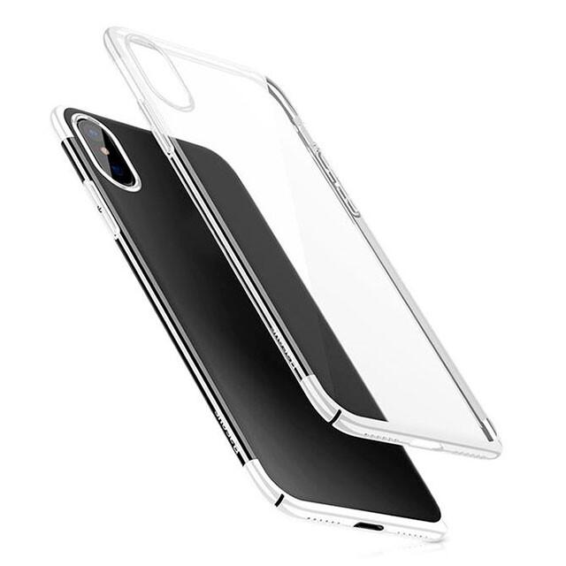 Чехол-накладка Baseus Glitter Case Transparent White для iPhone X