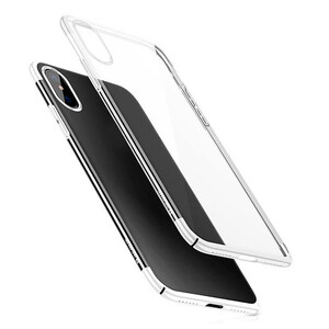 Купить Чехол-накладка Baseus Glitter Case Transparent White для iPhone X/XS