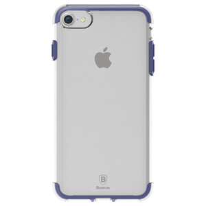 Купить Чехол Baseus Guards TPU+TPE Transparent/Blue для iPhone 7/8