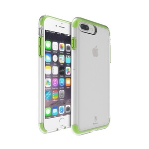 Купить Чехол Baseus Guards TPU+TPE Transparent/Green для iPhone 7 Plus