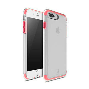 Купить Чехол Baseus Guards TPU+TPE Transparent/Red для iPhone 7 Plus
