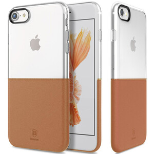Купить Чехол Baseus Half to Half Transparent/Brown для iPhone 7/8