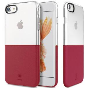 Купить Чехол Baseus Half to Half Transparent/Wine Red для iPhone 7/8