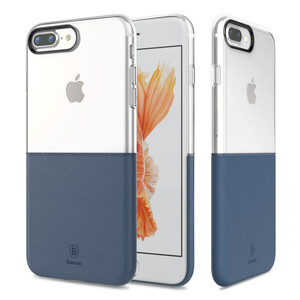 Купить Чехол Baseus Half to Half Transparent/Dark Blue для iPhone 7 Plus