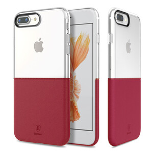 Купить Чехол Baseus Half to Half Transparent/Wine Red для iPhone 7 Plus