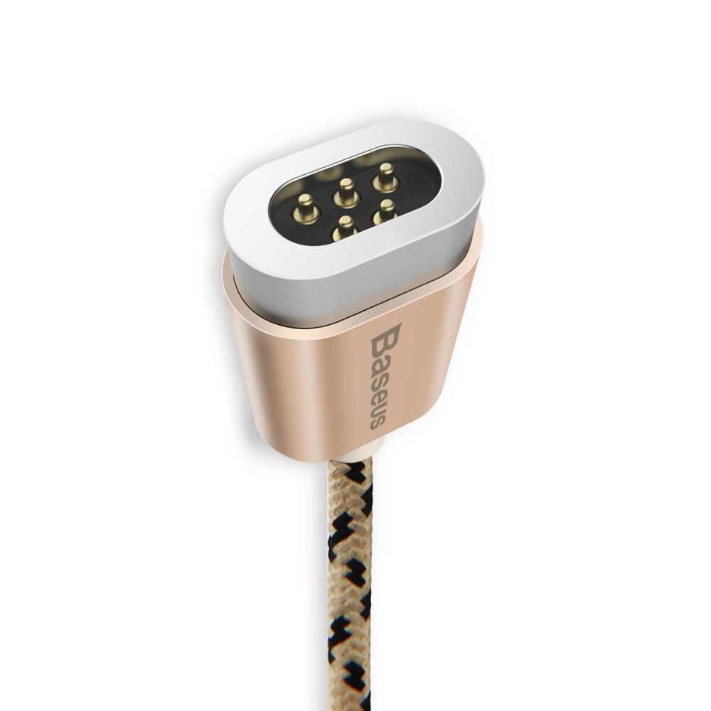 Магнитный кабель Baseus Insnap Gold USB