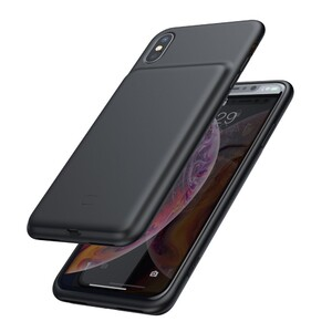 Купить Чехол-аккумулятор Baseus Liquid Silicone Smart Power Black для iPhone XS Max