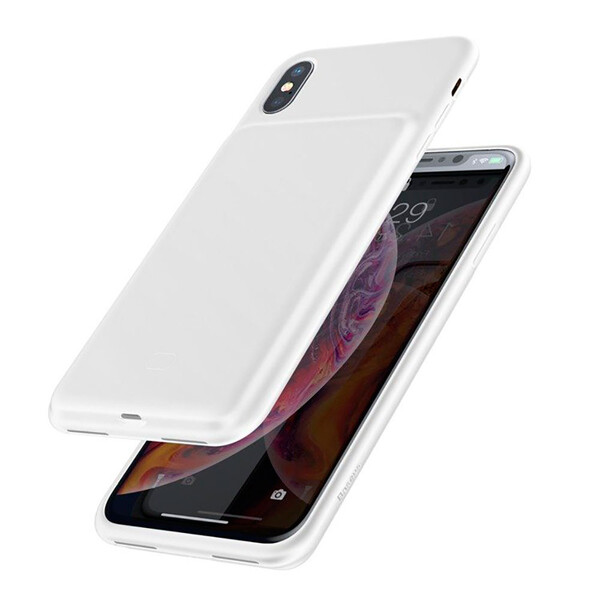 Чехол-аккумулятор Baseus Liquid Silicone Smart Power White для iPhone XS Max