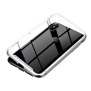 Купить Магнитный чехол Baseus Magnetite Hardware Case Silver для iPhone X/XS