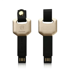 Купить Брелок-кабель Baseus Mini Key Lightning to USB Golden
