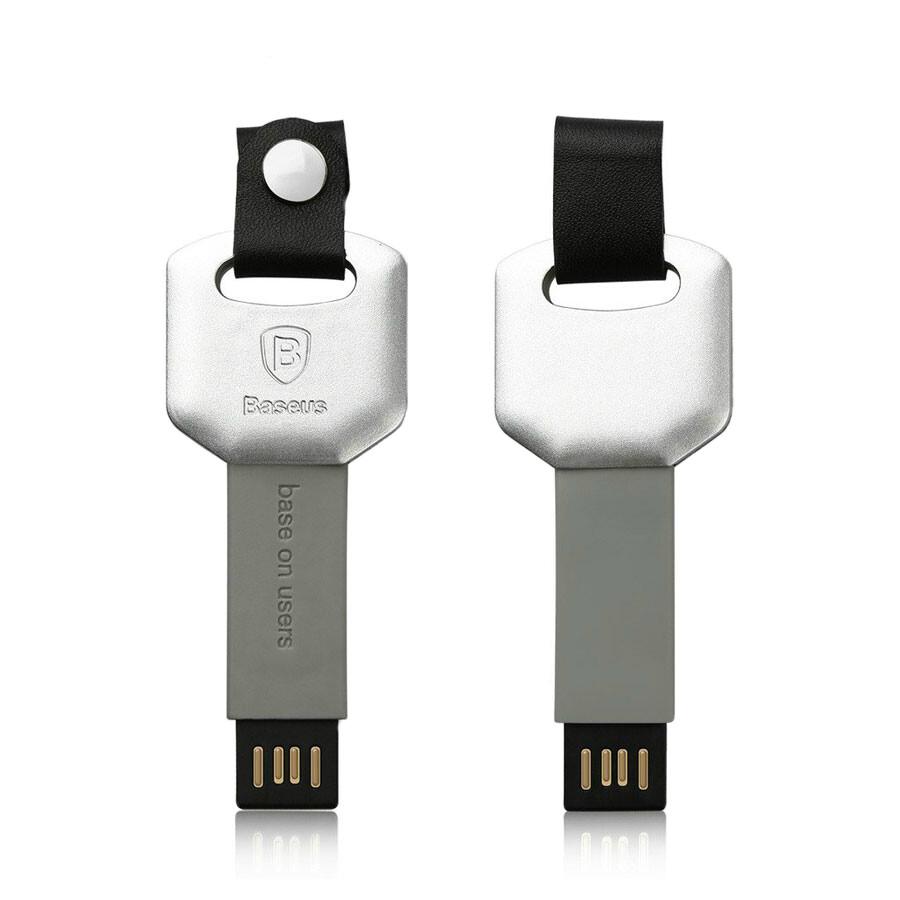 Брелок-кабель Baseus Mini Key Lightning to USB Silver