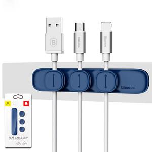 Купить Магнитный держатель для кабелей Baseus Peas Cable Clip Blue