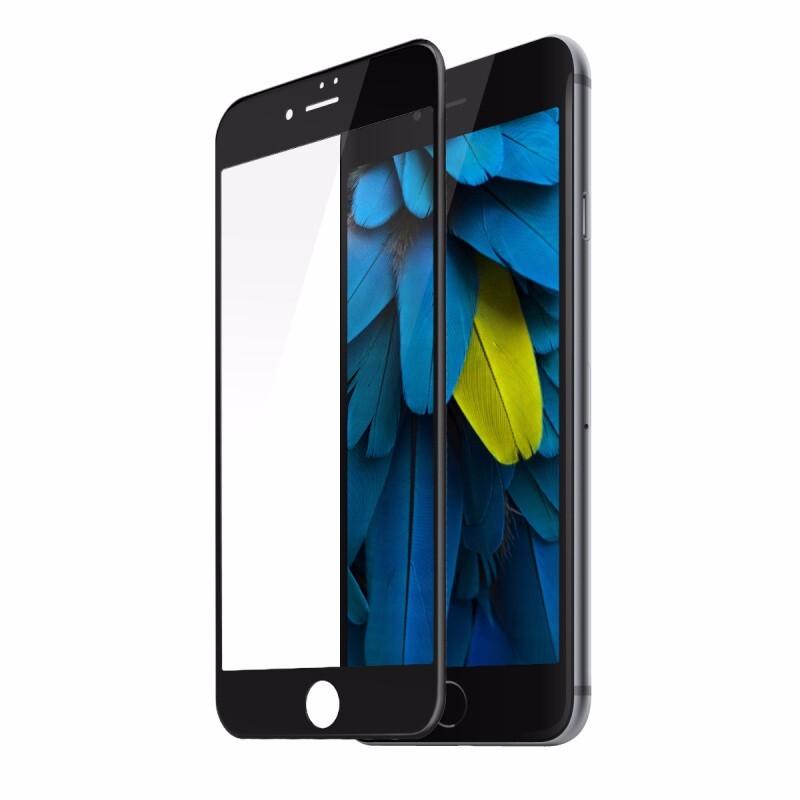 Защитное стекло Baseus Silk Screen Printed 0.2mm Black для iPhone 7/8