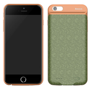 Купить Чехол-аккумулятор Baseus Plaid Backpack 3650mAh Army Green для iPhone 6 Plus/6s Plus