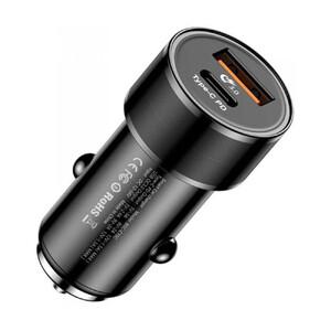 Купить Быстрая автозарядка Baseus Small Screw USB Type-C PD + USB 3.0 Black 36W