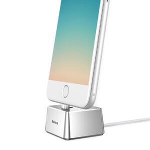 Купить Алюминиевая док-станция Baseus Quadrate с кабелем Lightning для iPhone