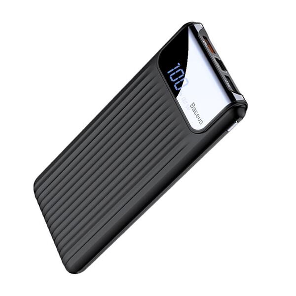 Внешний аккумулятор с дисплеем Baseus Thin Digital Power Bank 10000mAh Black