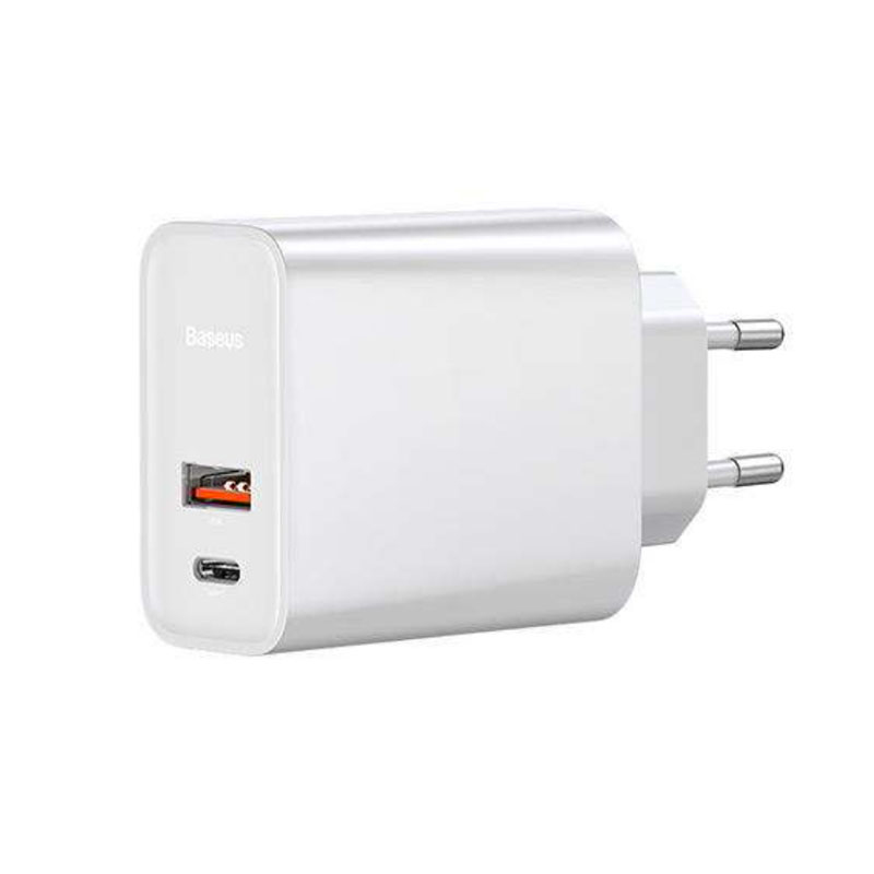Купить Быстрое зарядное устройство Baseus Quick Charger PD + QC 3.0 White 30W
