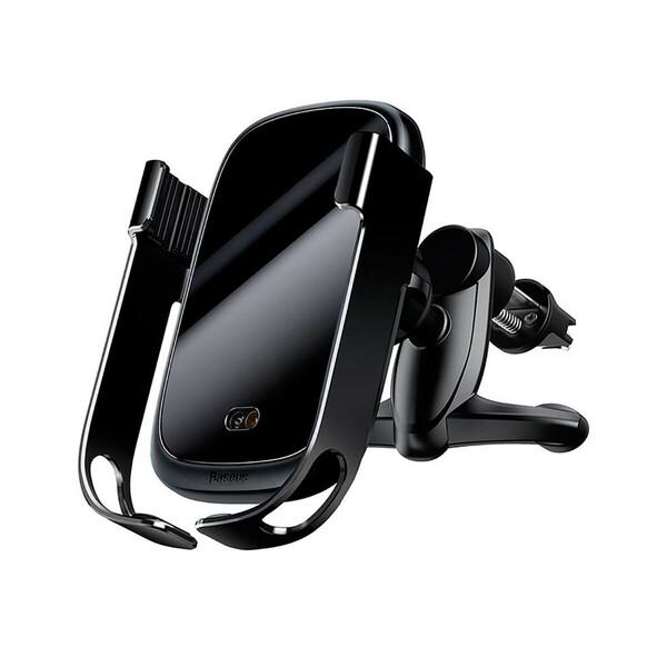 Автодержатель с беспроводной зарядкой Baseus Rock-Solid Car Holder Black