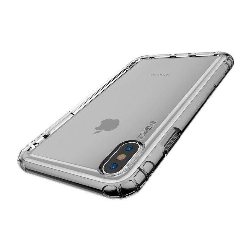 Купить Противоударный чехол Baseus Safety Airbags Transparent Black для iPhone XS Max