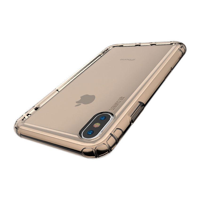 Купить Чехол Baseus Safety Airbags Transparent Gold для iPhone XS Max