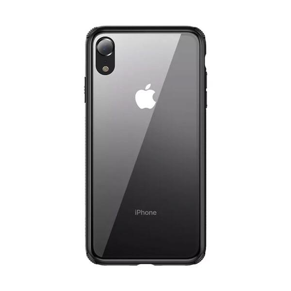 Стеклянный чехол Baseus See-Through Black для iPhone XR