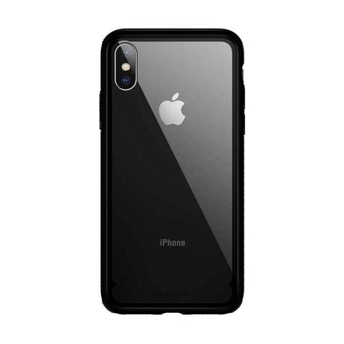 Стеклянный чехол Baseus See-Through Black для iPhone XS Max