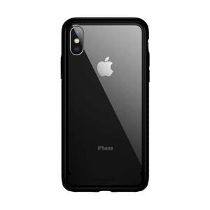 Купить Стеклянный чехол Baseus See-Through Black для iPhone XS Max