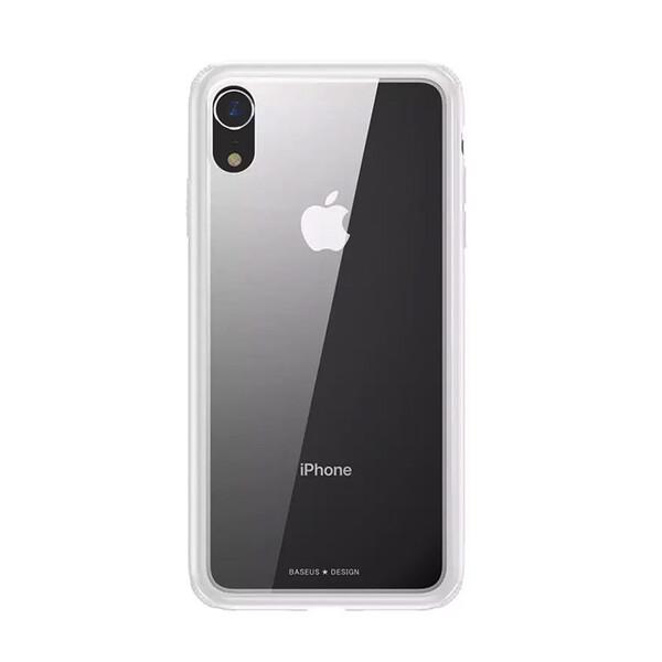 Стеклянный чехол Baseus See-Through White для iPhone XR